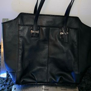 New Authentic Coach black leather purse